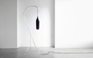 FLOOR LAMP CRISTALCANE BIG BLACK BLOWN GLASS MANUFACTURED BY THE CERFAV