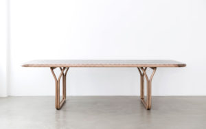 DINNING TABLE MARQUETRY WITH 11 TYPES OF NATURAL WOOD