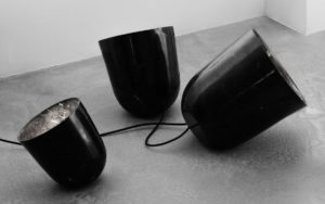 LAMPS ORBIT BLACK MARBLE FROM MARQUINA