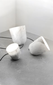 LAMPS ORBIT WHITE MARBLE FROM CARRARA LIGHTED