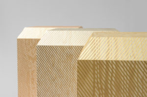 DETAILS CABINET PALISSADE PINE VENEER IN GOLD BRONZE AND SILVER