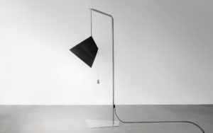 FLOOR LAMP POISE PAPER LEAD STAINLESS STEAL