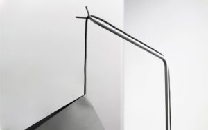 DETAILS FLOOR LAMP POISE PAPER LEAD STAINLESS STEAL