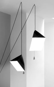 PENDANT POISE S AND L PAPER LEAD STAINLESS STEEL LIGHTED