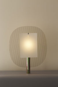 TABLE LAMP TENELLUS BASE IN ANODISED METAL STEEL MESH PAPER LIGHTED