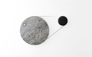 CLOCK TIMEFLIES GRANITE SILVER FOREST AND STEREOLITHOGRAPHY