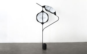 FLOOR LAMP EDALIGHT PAPER METAL CONCRETE SIDE VIEW