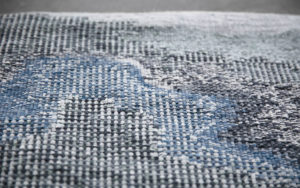 DETAILS RUG EAU AUBUSSON TAPESTRY MOVING WATER ILLUSION